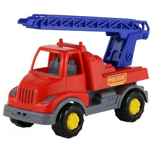 Пожарный автомобиль Полесье Леон (52889) 24 см красный/синий/серый