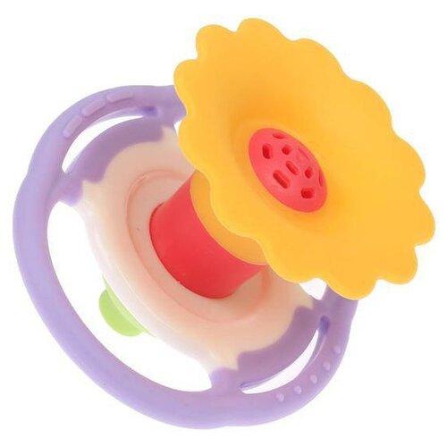 Купить Прорезыватель Крошка Я Дудочка 2593624 желтый/фиолетовый, Погремушки и прорезыватели