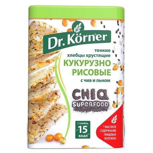 Фото - Хлебцы кукурузно-рисовые Dr. Korner с чиа и льном 100 г хлебцы многозерновые dr korner злаковый коктейль яблоко и корица 90 г