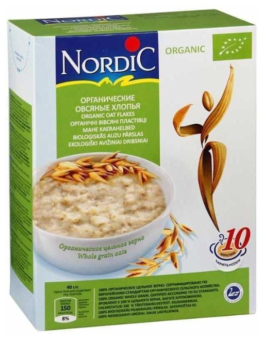 Хлопья NORDIC (Нордик) овсяные органические, 600 гр.