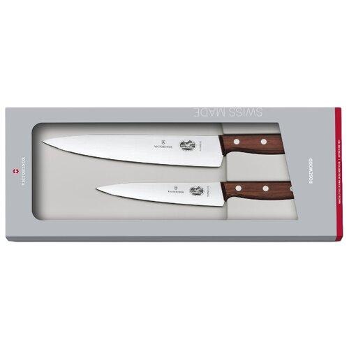 Набор VICTORINOX Rosewood 2 ножа 5.1050.2G коричневыйНаборы ножей<br>