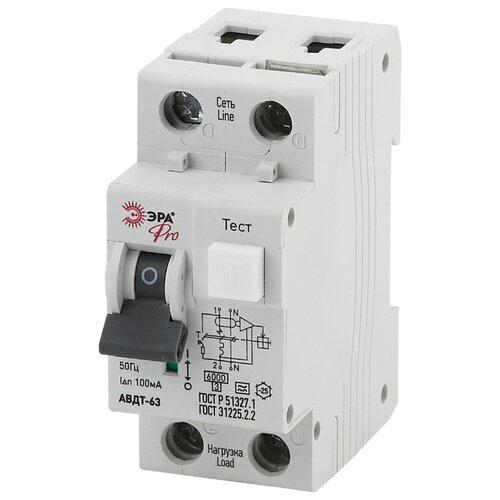Дифференциальный автомат ЭРА Pro NO-901-89 АВДТ 63 2П 100 мА C 40 АДифференциальные автоматы<br>