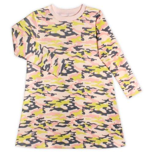 Купить Платье KotMarKot размер 116, розовый милитари, Платья и сарафаны