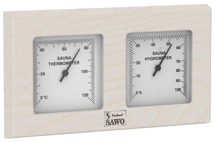 Термогигрометр SAWO 224-THA (квадратный) (Осина (A), 255x140 мм)