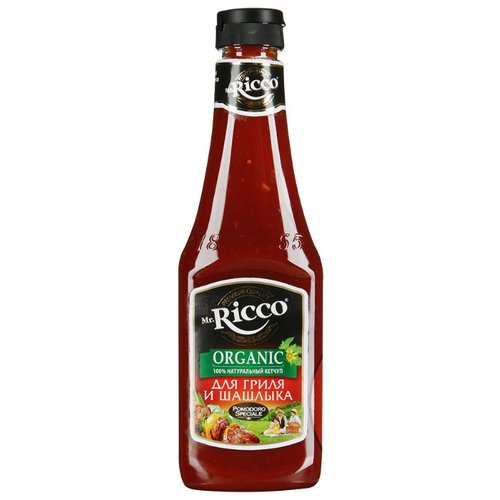 Кетчуп Mr.Ricco Для гриля и шашлыка organic, пластиковая бутылка 570 г