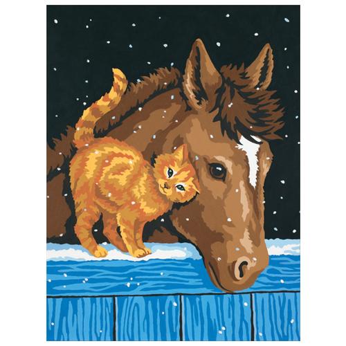 Dimensions Картина по номерам Пони и котенок 23х30 см (DMS-91305)Картины по номерам и контурам<br>