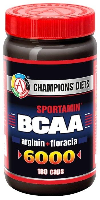 Аминокислотный комплекс Академия-Т Sportamin ВСАА 6000 arginin+floracia (180 капс.)