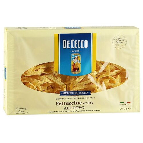 De Cecco Макароны Fettuccine n°103 all'uovo, 250 г