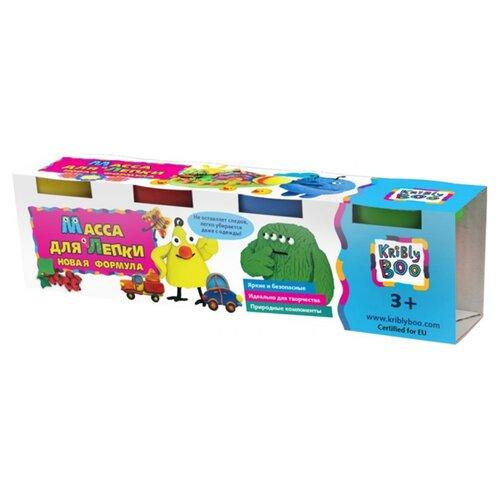 Купить Масса для лепки Kribly Boo 4 цвета 300 г (67852), Пластилин и масса для лепки
