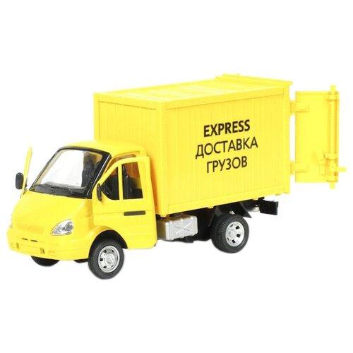 Купить Фургон ТЕХНОПАРК ГАЗель Express доставка грузов (A071-H11011-J006) 1:43 21 см желтый, Машинки и техника