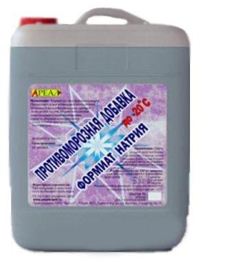Добавка противоморозная Ареал+ формиат натрия 10 л