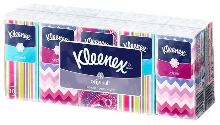 Носовые платочки Kleenex Original, упаковка 10 штук