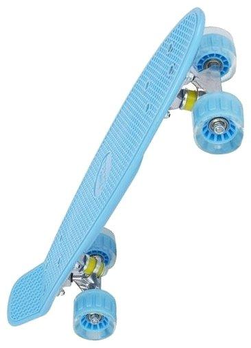 Скейтборд Leader Kids S-2206E, цвет: зеленый