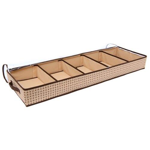 HOMSU Органайзер для обуви на 5 отделений Pletenka бежевый/коричневый органайзер для хранения обуви homsu pletenka 6 секций 66 х 63 х 11 см