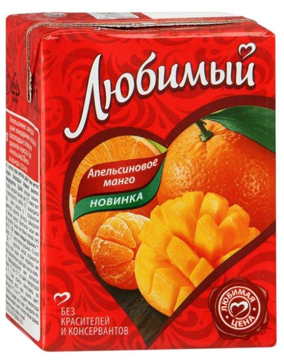 Напиток сокосодержащий Любимый Апельсин-Манго-Мандарин, без сахара