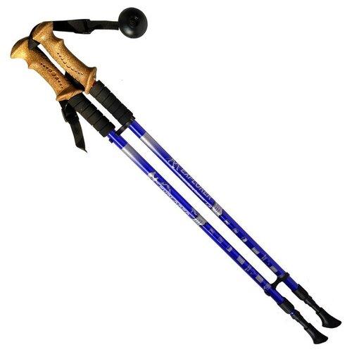 Палка для скандинавской ходьбы 2 шт. Hawk PRO Телескопические с чехлом (пластик, пробка) синийПалки<br>