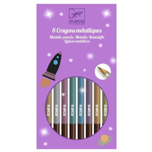 Купить DJECO Цветные карандаши металлик 8 цветов (9753)