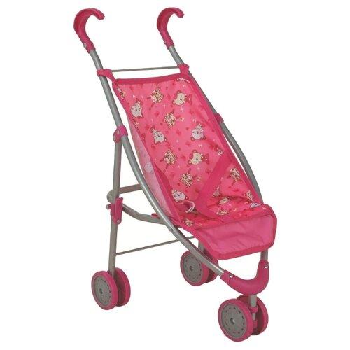 Купить Прогулочная коляска Buggy Boom Mixy 8022 розовый/мишки, Коляски для кукол