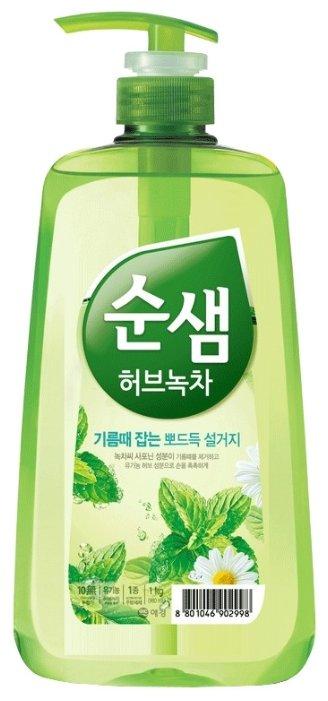 Soonsaem Средствово для мытья посуды, фруктов и овощей 500 мл Зеленый чай