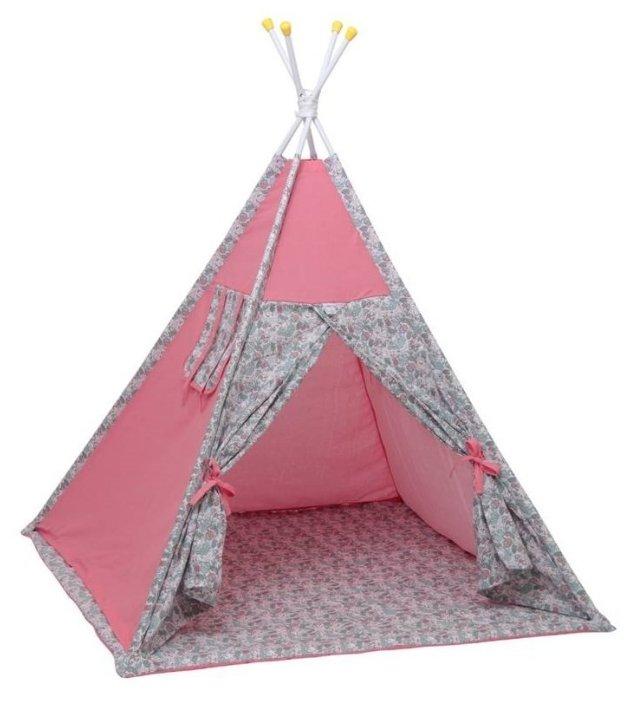Палатка-вигвам детская Polini Последний богатырь, принцесса серый