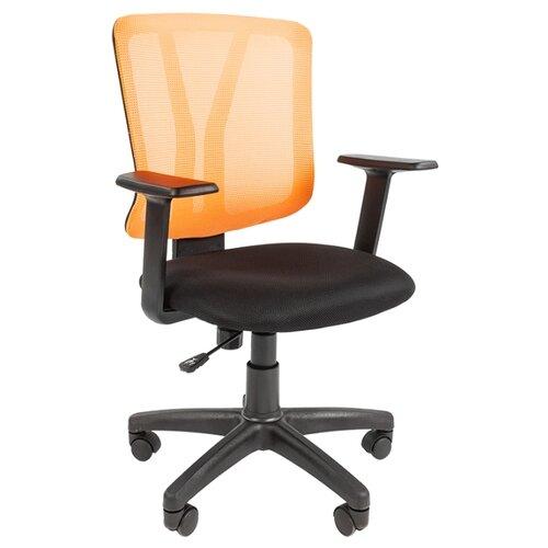 Компьютерное кресло Chairman 626 офисное, обивка: текстиль, цвет: оранжевый офисноекресло chairman 626 dw61 синий