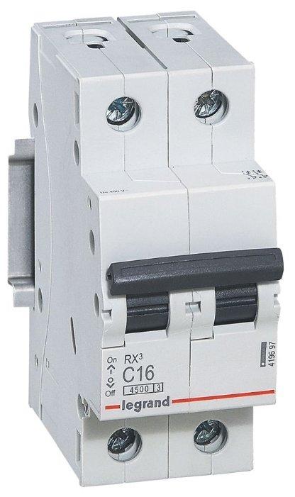 Автоматический выключатель Legrand RX3 2P (C) 4,5kA