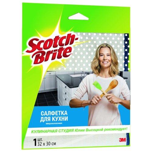 Салфетка микроволоконная для кухни Scotch-Brite MW-K белыйТряпки, щетки, губки<br>