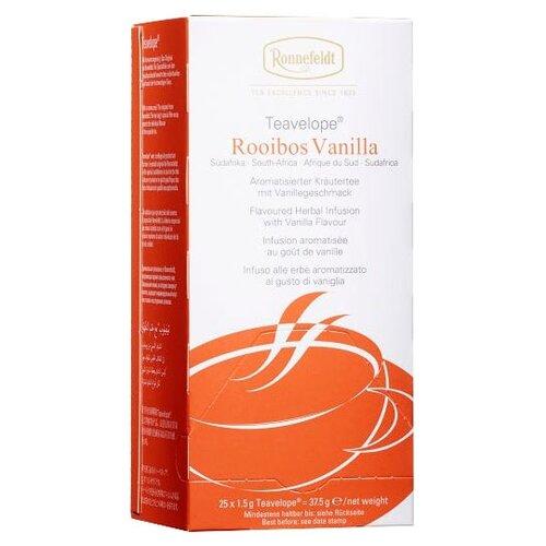 Чай травяной Ronnefeldt Teavelope Rooibos vanilla в пакетиках, 25 шт. чай зеленый ronnefeldt teavelope classic green в пакетиках 25 шт