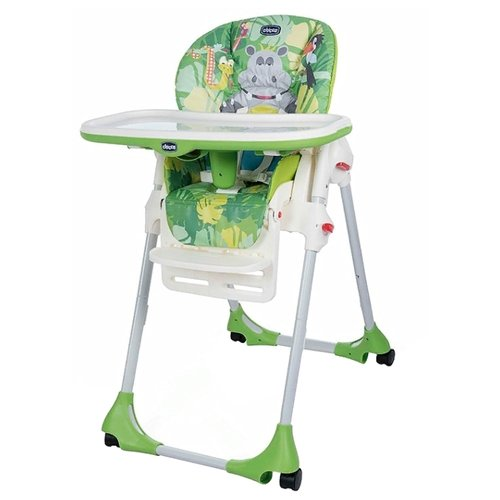 Стульчик для кормления Chicco Polly 2-in-1 Easy (4 колеса) happy jungle стульчик для кормления ivolia hope 01 2 колеса orange