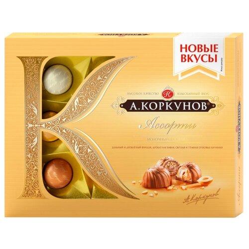 Набор конфет Коркунов Ассорти молочный шоколад 110 гКонфеты в коробках, подарочные наборы<br>