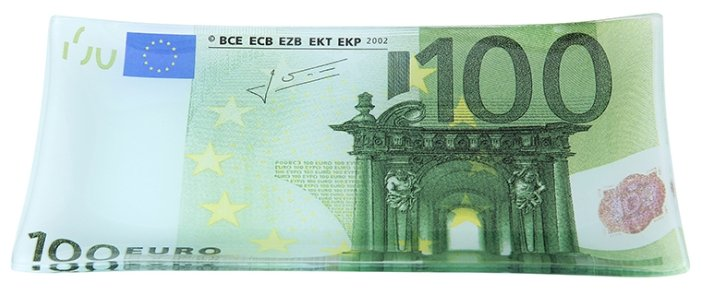 Elan gallery Тарелка 100 евро 19х10 см