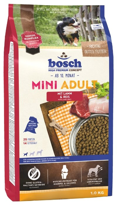 Корм для собак Bosch Mini Adult Lamb & Rice