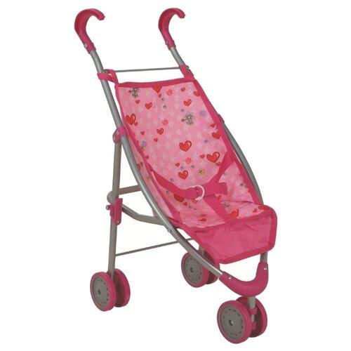 Прогулочная коляска Buggy Boom Mixy 8022 светло-розовый/сердечки buggy boom коляска для кукол buggy boom infinia трансформер салатовая