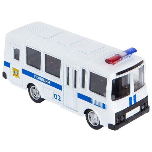 Автобус Play Smart Автопарк ПАЗ (Р49231) 11 см белый автомобиль play smart автопарк хаки 11 см р41437