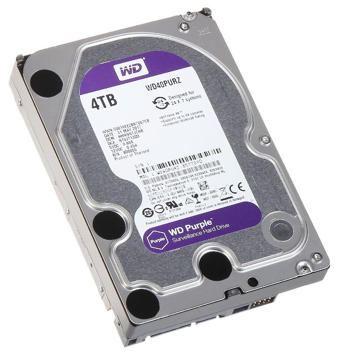 Жесткий диск Western Digital 4Tb Purple WD40PURZ