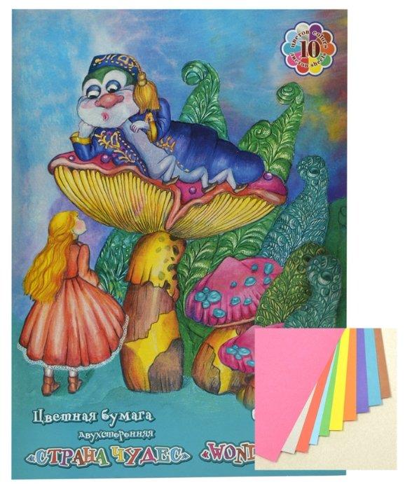 Бумага для поделок Альт пенка декоративная Волшебный блеск А4 7 цветов 7 листов