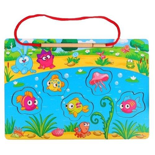 Купить Рыбалка Мастер игрушек Смешарики Летние каникулы голубой/зеленый/желтый, Развитие мелкой моторики