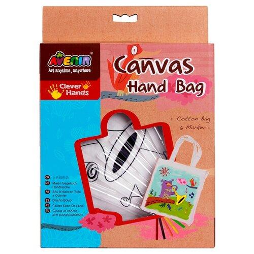 Купить AVENIR Набор для раскрашивания сумки из холста Птичка (AL2004), Роспись предметов