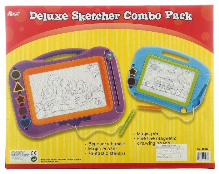 Доска для рисования детская RED BOX 2 в 1 со штампами (25063)