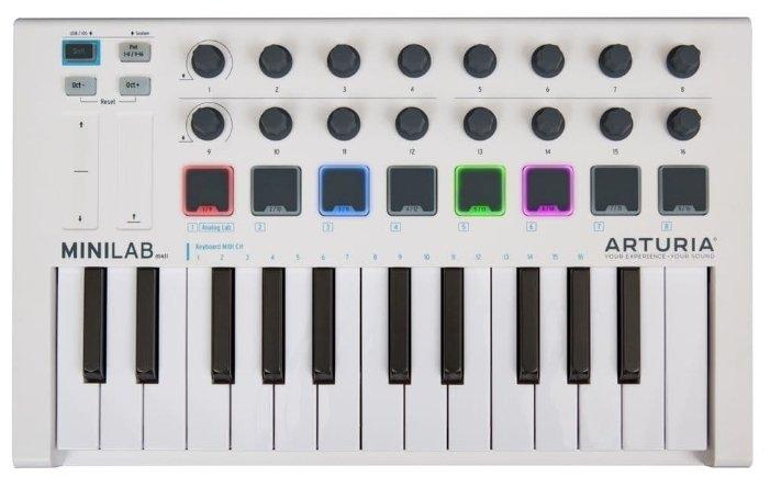 ARTURIA MiniLab mkII Inverted 25 клавишная низкопрофильная, динамическая MIDI мини-клавиатура