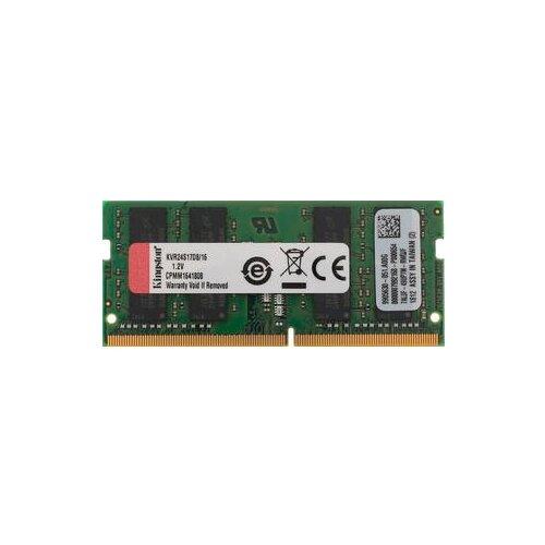 Купить Оперативная память Kingston DDR4 2400 (PC 19200) SODIMM 260 pin, 16 ГБ 1 шт. 1.2 В, CL 17, KVR24S17D8/16
