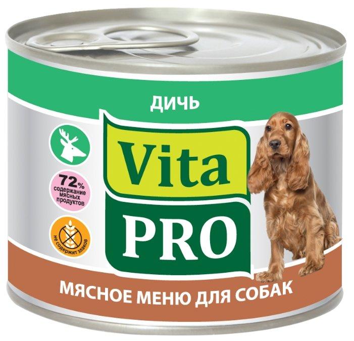 Корм для собак Vita PRO (0.2 кг) 1 шт. Мясное меню для собак, дичь
