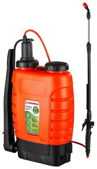 Опрыскиватель GRINDA садовый Fine Spray ранцевый с телескопическим удлинителем 15л 425216