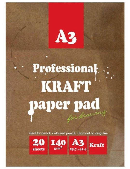 Папка для рисования Кройтер 02649/376914 42 х 29.7 см (A3), 140 г/м², 20 л.