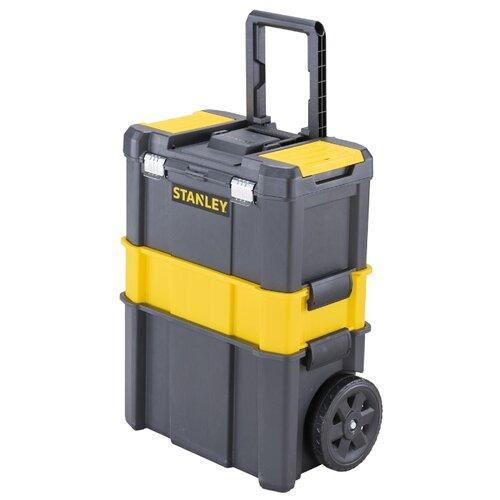 Ящик-тележка STANLEY STST1-80151 Essential Rolling Workshop 63x46x28.5 см 18'' черный ящик тележка stanley 1 92 904 pro mobile tool chest 59x37x42 см черный желтый
