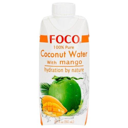 Вода кокосовая FOCO с манго, без сахара, 0.33 л