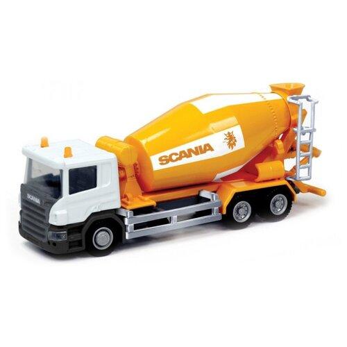 Купить Бетономешалка RMZ City Бетономешалка Scania (144005) 1:64 оранжевый/белый, Машинки и техника