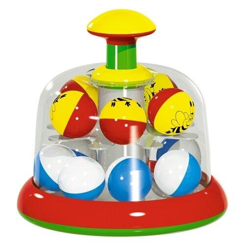 Юла-карусель Stellar Карусель c шариками, упаковка пакет (01323) красный/голубой/желтый игрушка chuc юла