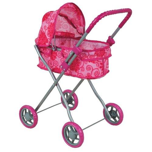 Коляска-люлька Buggy Boom Mixy (8011) розовый/цветы buggy boom коляска для кукол buggy boom infinia трансформер салатовая
