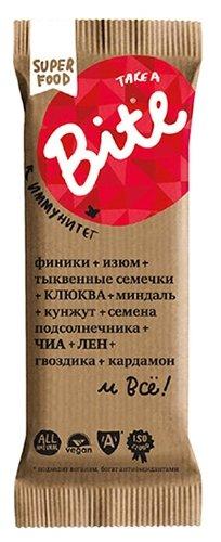Батончик Take a Bite Фруктово-ореховый Клюква-Тыквенные семечки, 45г